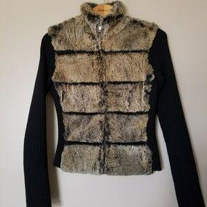 Arden B Fur Sweater Jacket