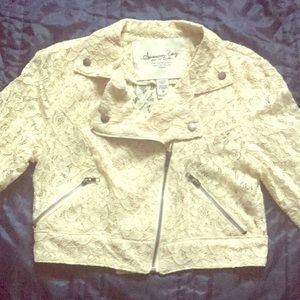 American Rag Lace Crop Jacket