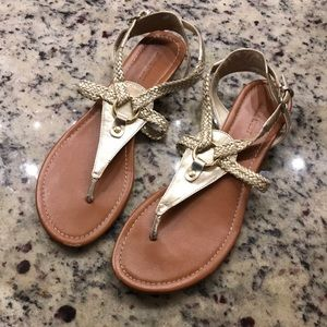Nine West Gold Sandals size 9