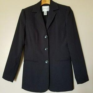 Arden B Black Three Button Suit Jacket