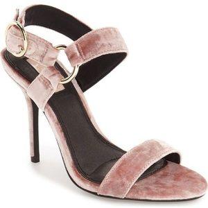 Topshop blush velvet heel