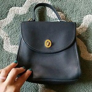 COACH Vintage Navy Blue Satchel Bag