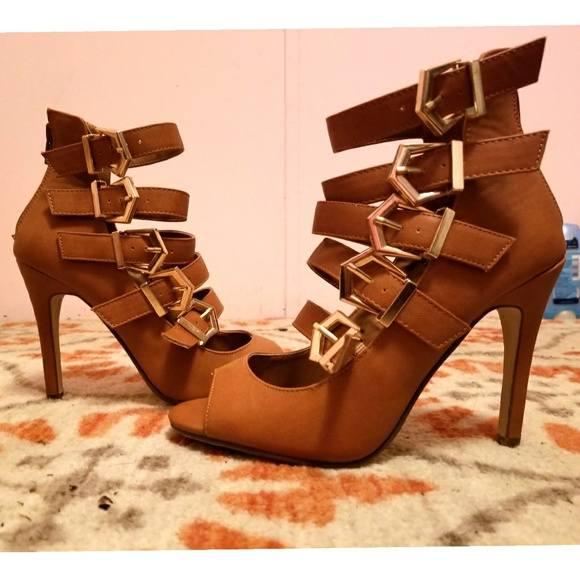 63% off Forever 21 Shoes - Strappy buckle heels from Kestrel's ...