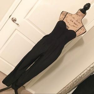 Pants - Women's black adjustable strap jumpsuit