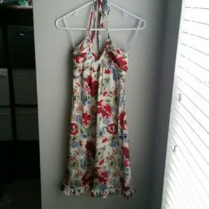 Betsey Johnson Silk Floral Halter Dress - 4