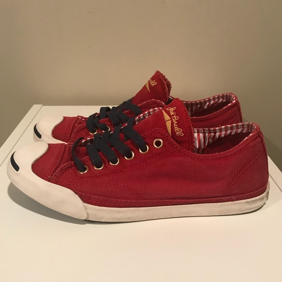 c3480e497dd7 Converse Shoes - CONVERSE Jack Purcell Burgundy Navy Gold Sneakers