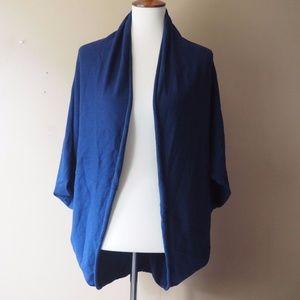 Zara Knit Open Front Navy Blue Cardigan Size M