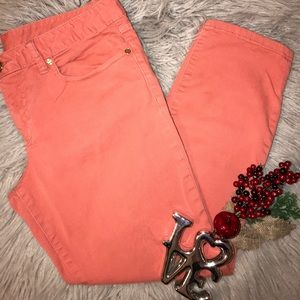 TORY BURCH Coral skinny jeans size 30
