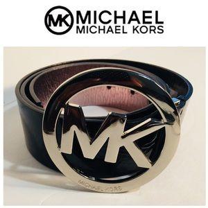 MK Michael Kors Patent Leather Belt