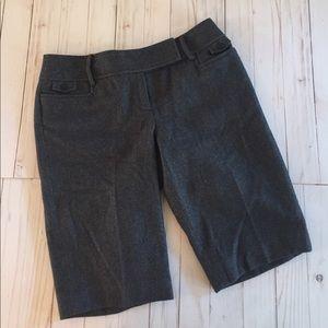 Ann Taylor Loft Wool Dress Shorts 8 Gray
