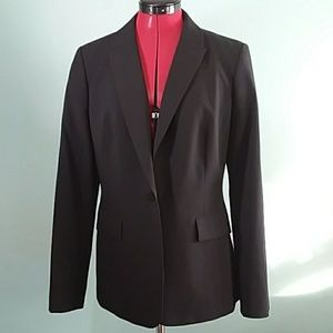 Calvin Klein long black jacket blazer 10 CAREER