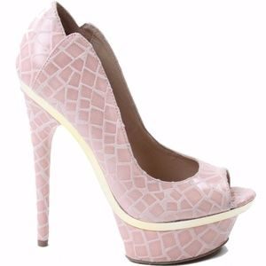bebe Farah Platform High Heel Misty Rose Size 5