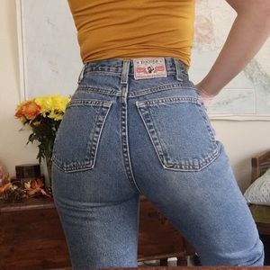 Vintage High Waisted Western Jeans