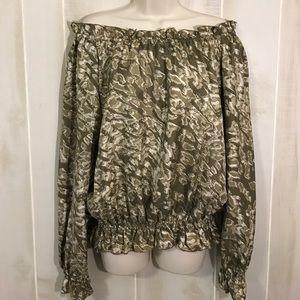 Rachel Zoe silk long sleeve top size 6