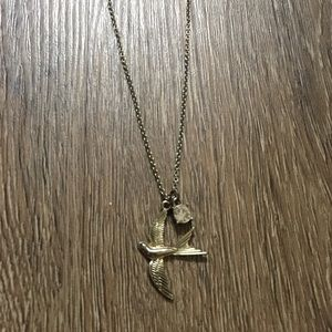 Urban Outfitters Rustic Gold Bird Necklace