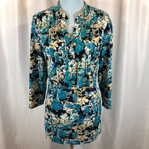Style & Co 3/4 Sleeve Teal Tunic, Plus Size 2X