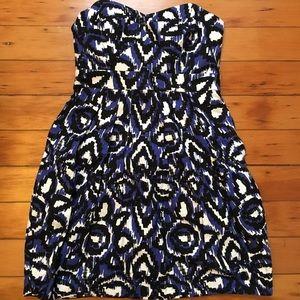 Shoshana Pleated Canvas Sweetheart Dress
