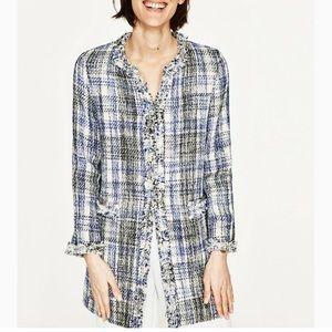 Zara Frayed Coat