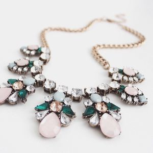 "Jewelry - ""Cathy"" Rosy Cheek Palm Spring Statement Necklace"
