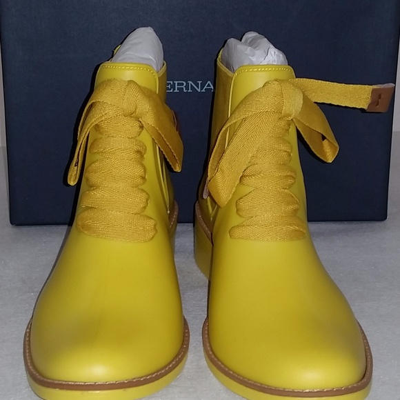 90d8f60c734 Bernardo Women s Lacey Rain Boot Yellow