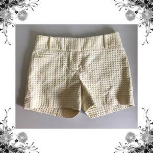 {Loft} Yellow Textured Shorts