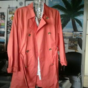 MICHAEL KORS CHEERFUL TRENCH COAT SIZE L