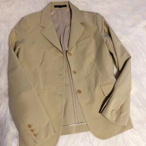 NWOT Theory Nude Cream Blazer Jacket