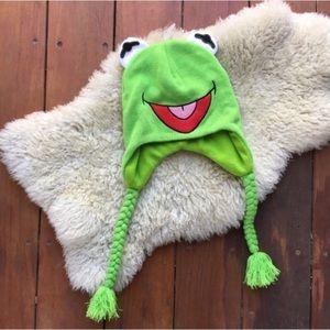 {Disney} Kermit The Frog Knittied Winter Hat