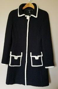 Arden B Luxe Black Wool Coat