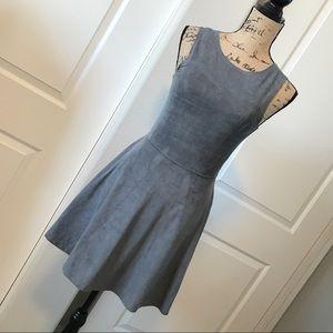 -NWT- ABERCROMBIE grey faux suede mini dress
