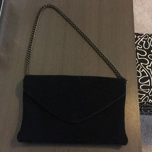 J Crew Suede Leather Shoulder Bag