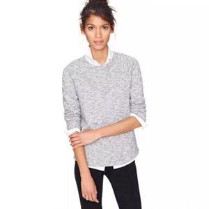 J.Crew Gray Pullover Loomknit Sweatshirt