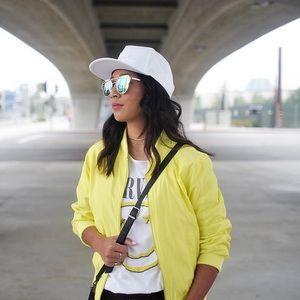 Canary Yellow Bomber Jacket