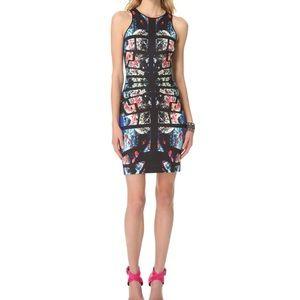 Clover Canyon Aquamarine Puzzle pencil dress