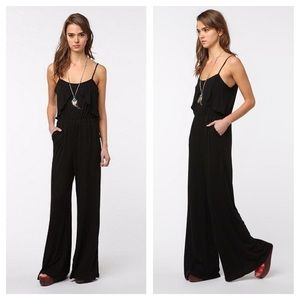 UO Coincidence & Chance Black Gaucho Jumpsuit SM