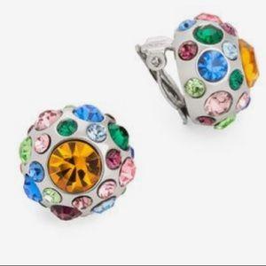 Jewelmint MONET BOUQUET Clip On Earrings Crystal