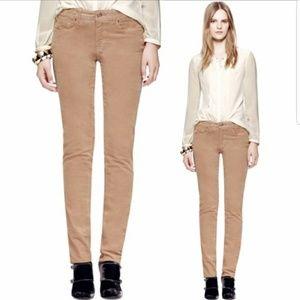 TORY BURCH Super Skinny Tan/Khaki Courderoy Jeans