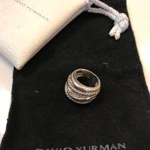 Authentic David Yurman wide crossover ring