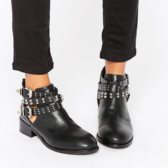 0f70a4197549 Buckle Strap Ankle Boot - ASOS
