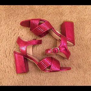 Topshop NIB Radiant Metallic sandal