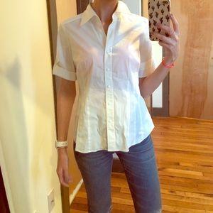 LAFAYETTE 148 3/4 Sleeve white blouse size 6