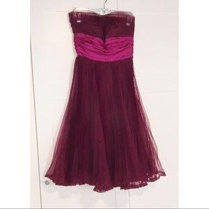 Betsey Johnson Taffetta Corset Dress w/pleating
