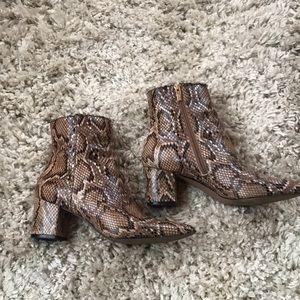 Steven snakeskin Bollie boot size 8