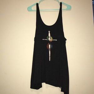 Unfinished urban outfitter oversized tank top