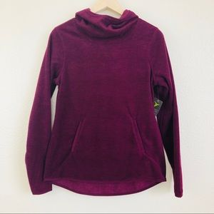 Old Navy Berry Cowl-Neck Hooded Sweater