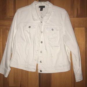 NWT Cute White Jean Jacket!
