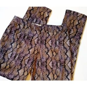 Boston Proper NWT Sz 6 Snakeskin Multi Print Pants