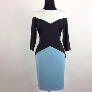 Leslie Fay Women's Color Block A-Line Dress