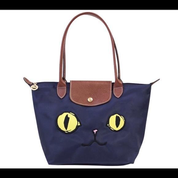 8a6da6700593 Longchamp Handbags - Longchamp Le Pliage Limited MIAOU Tote Navy