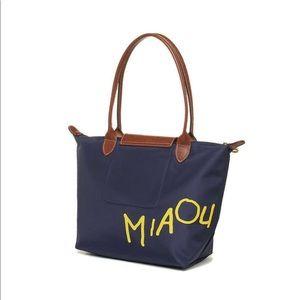Longchamp Bags   Le Pliage Limited Miaou Tote Navy   Poshmark 366aacdea9